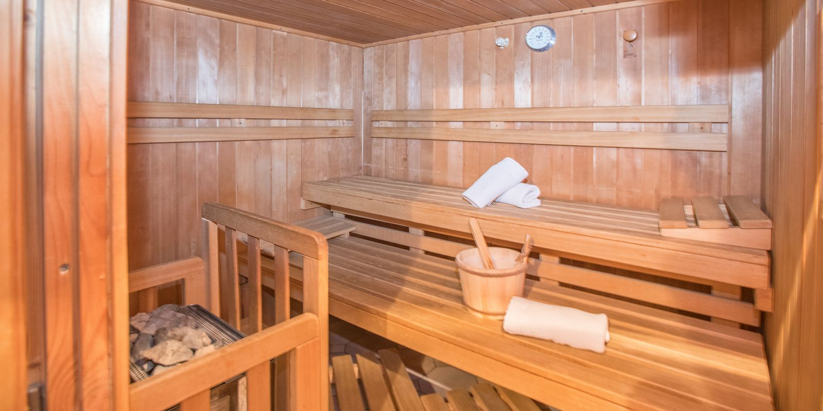 Small private sauna for house guests