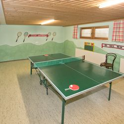 Table tennis in the basement