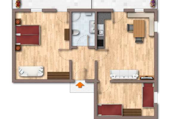 Floor plan of Apartment Ahorn East